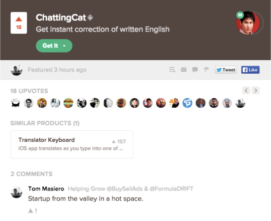 ProductHunt_ChattingCat